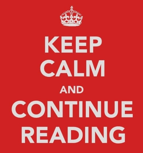 keep calm continue reading